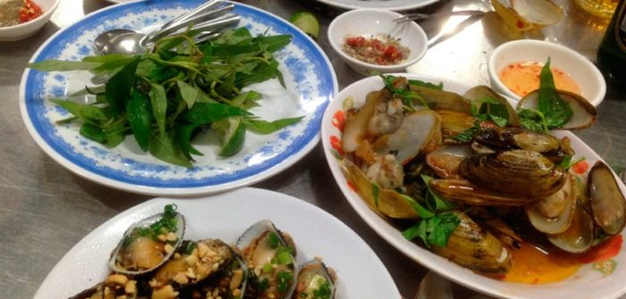 plate of vietnamese seafood