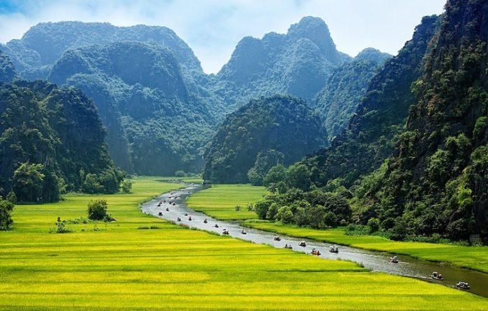 Rice field and river, NinhBinh